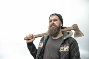 Lumberjack with his ax